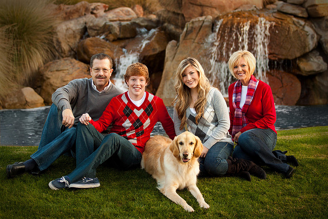 Family Christmas Photo by Tanner R. Hal
