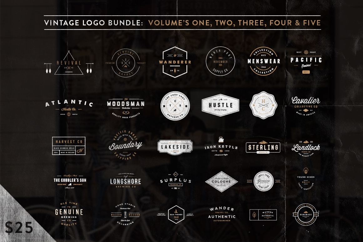 Vintage Logo Bundle