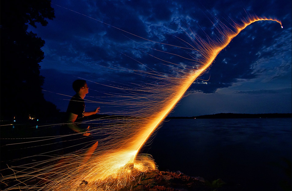 launching bottle rocket by dan anderson 60 Spectacular Examples of Long Exposure Photography