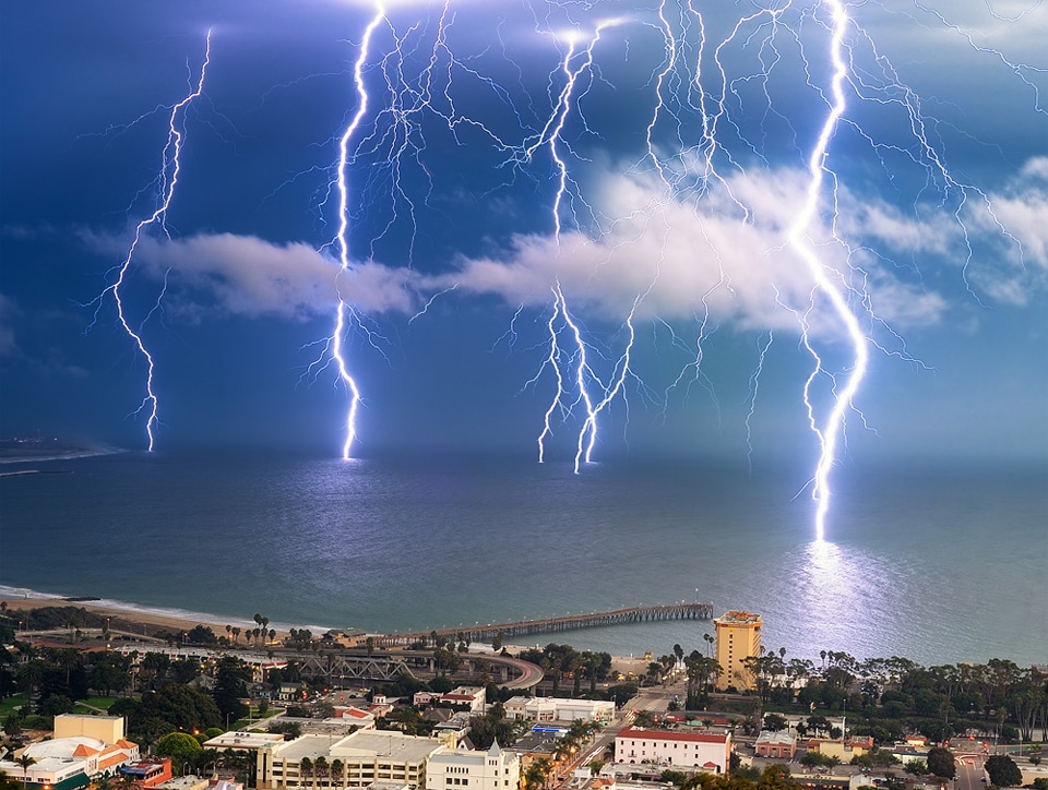 Lightning Storm, Ventura, California by Amery Carlson