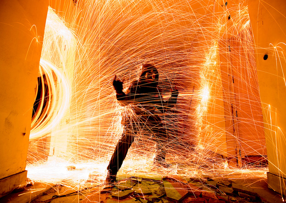 man on fire by nacho cosio 60 Spectacular Examples of Long Exposure Photography