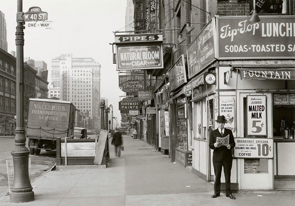 New Yorker Reads A Newspaper, 1940 by NYC Municipal Archives