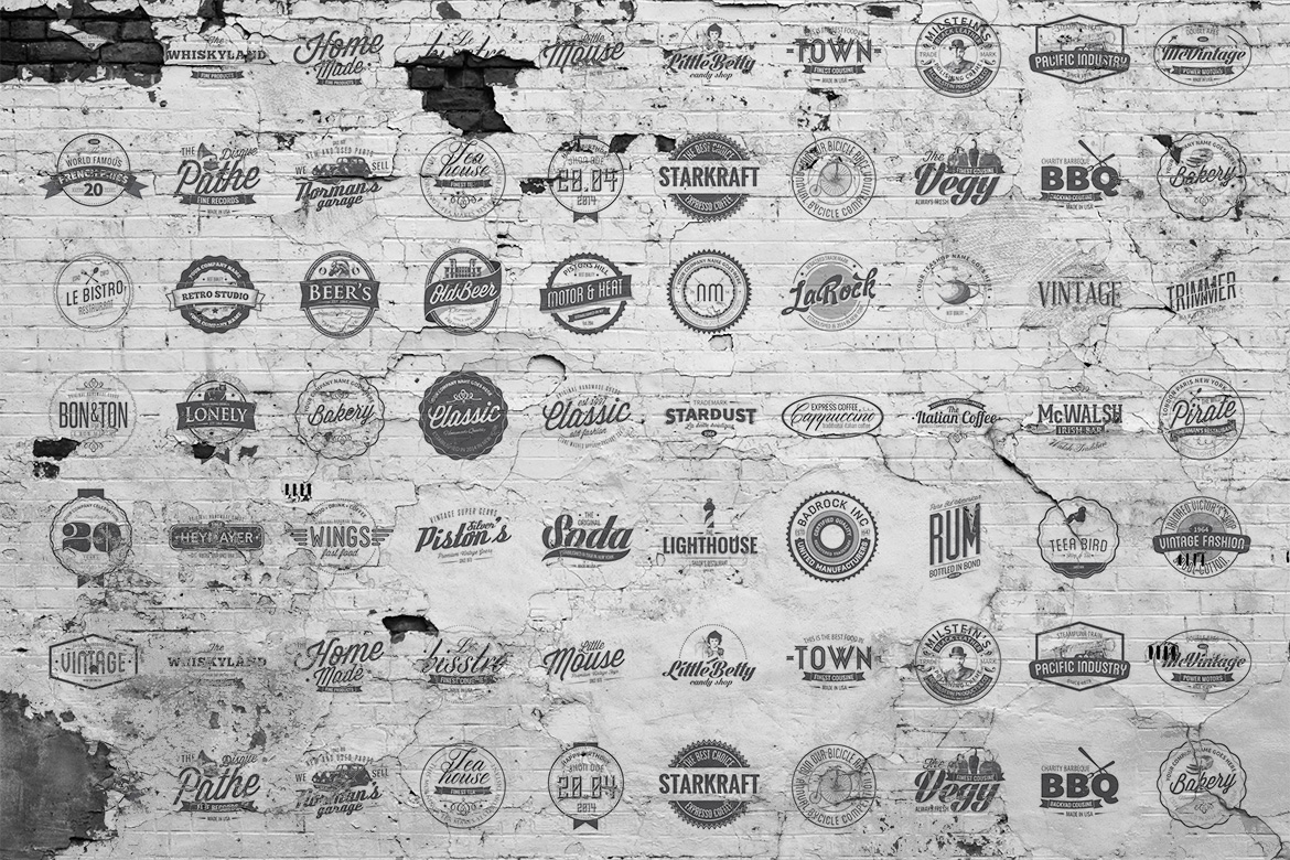 50 Vintage Logos & Badges Templates by Design Something