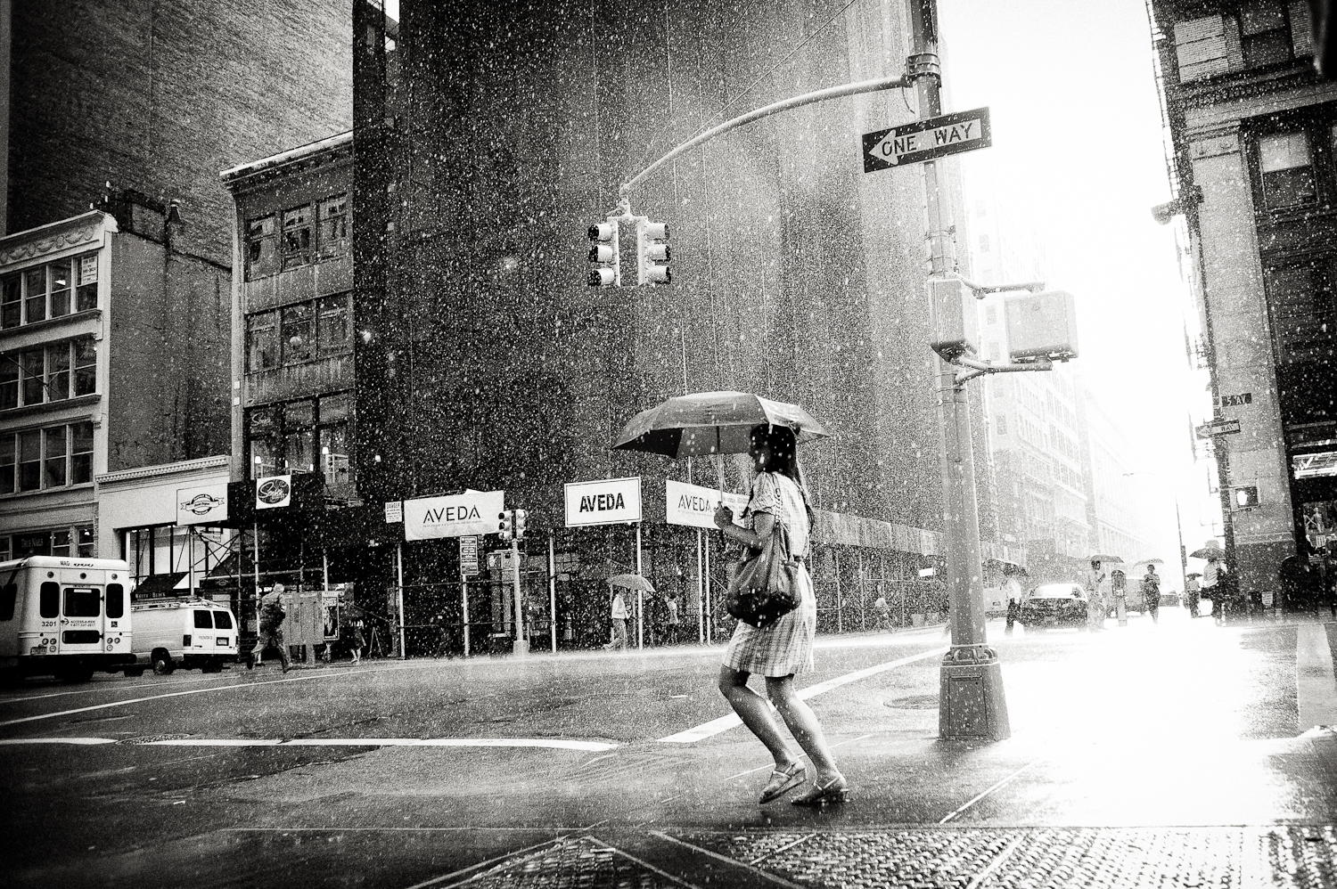 Rain on 5th Avenue by Luke Bhothipiti