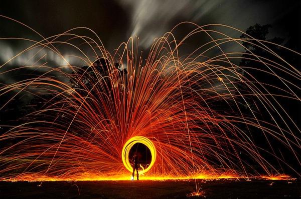 Sparkle Long Exposure Circle by Alex Coppel