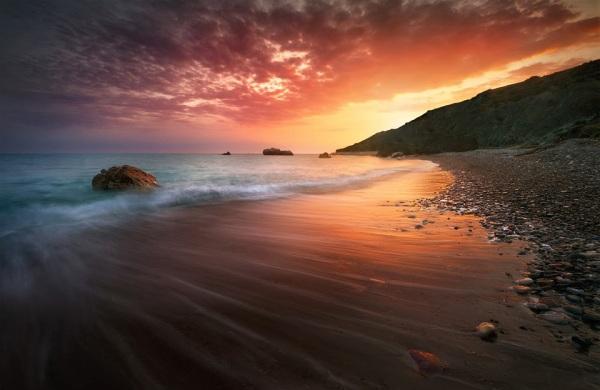 Spectacular Cyprus Sunset by Tomasz Huczek