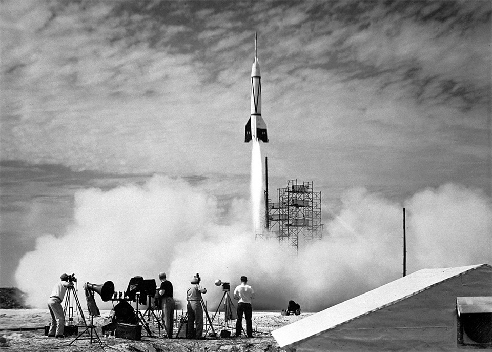 The First Rocket Launch From Cape Canaveral 1950 by NASA