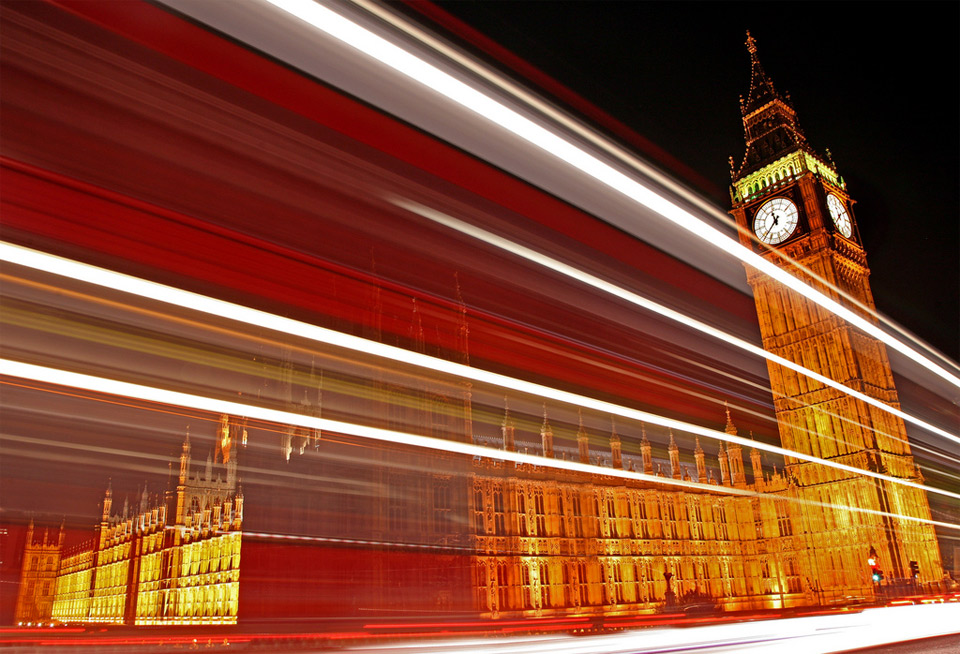 traffic trails of london by chris dorney 60 Spectacular Examples of Long Exposure Photography