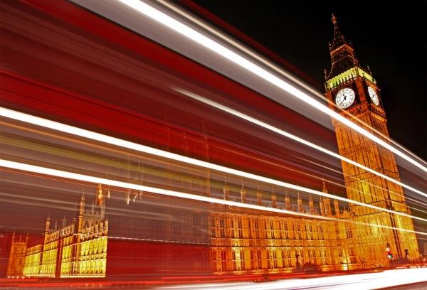 Traffic Trails Of London by Chris Dorney