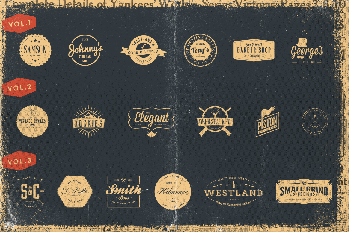 Vintage Bundle of Logos