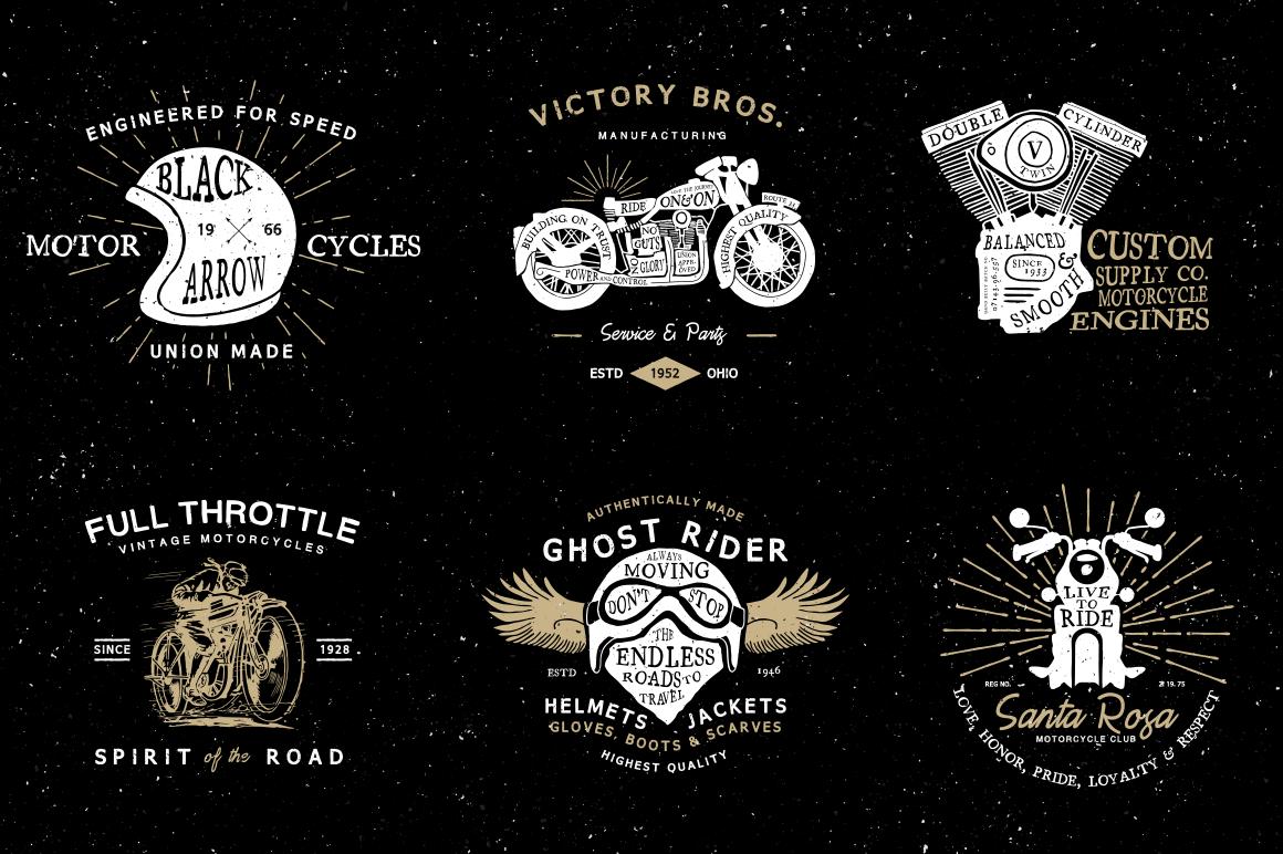 6 Vintage Motorcycle Logos