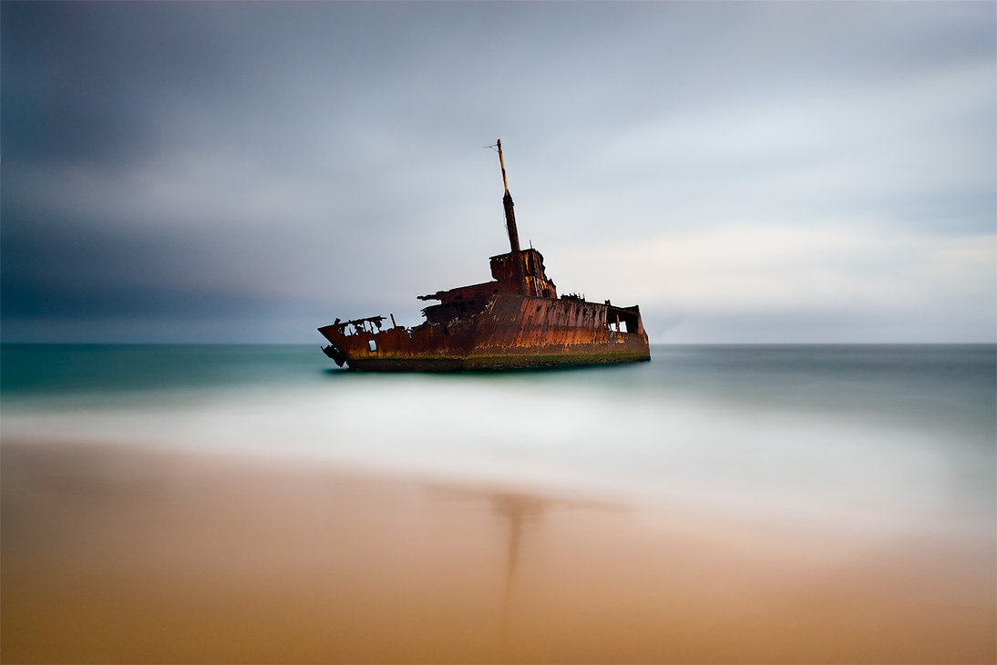 wreck of the sygna by brentbat1 60 Spectacular Examples of Long Exposure Photography