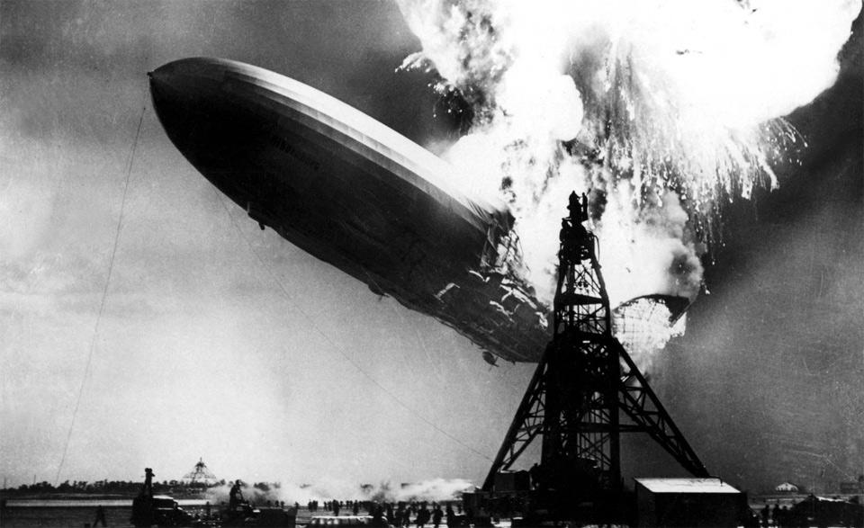 Zeppelin On Fire by Gus Pasquerella
