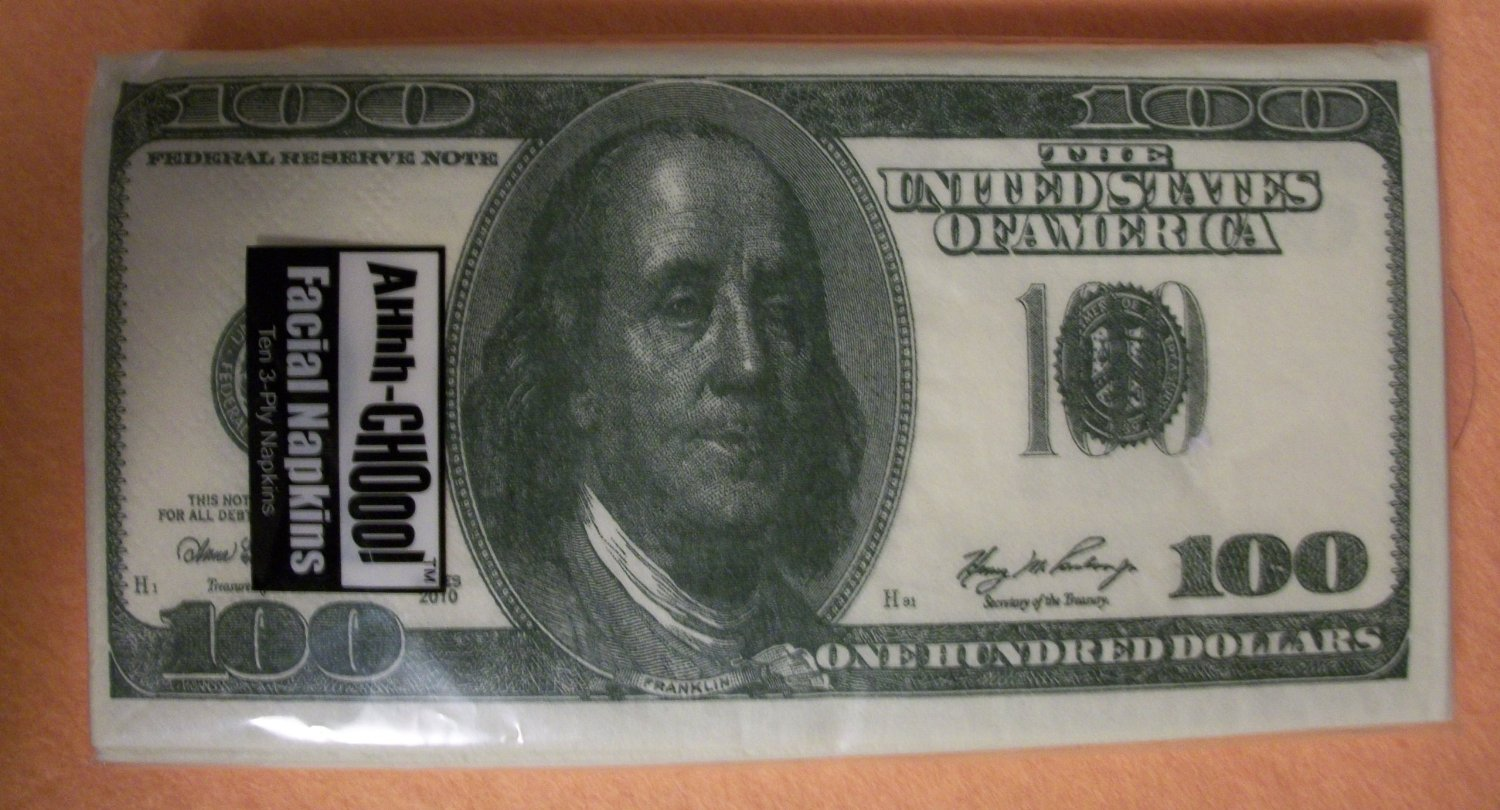 100 Dollar Bill Napkins