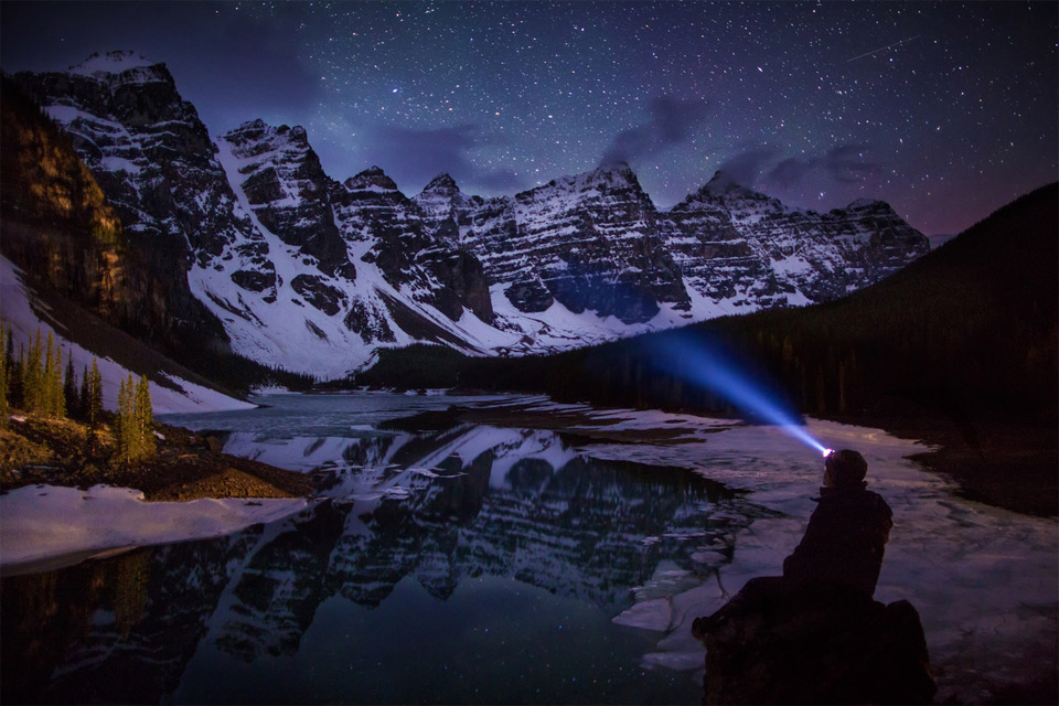 A Night View On Moraine Lake, Canada By Paul Zizka
