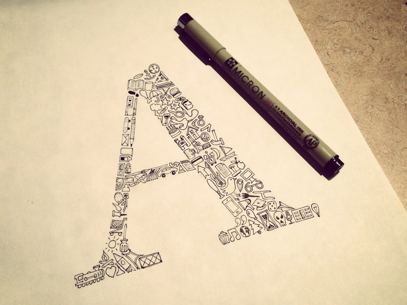 a of glyphs1 Astonishing Hand Lettering by Sean McCabe