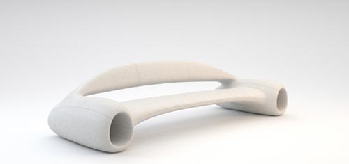Accelerator Sofa by Phillip Grass