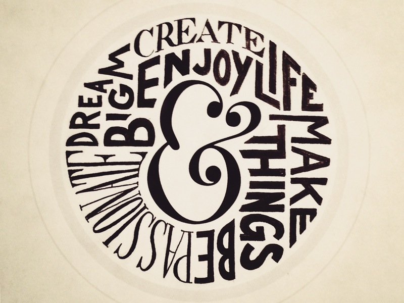 ampersand lifestyle1 Astonishing Hand Lettering by Sean McCabe