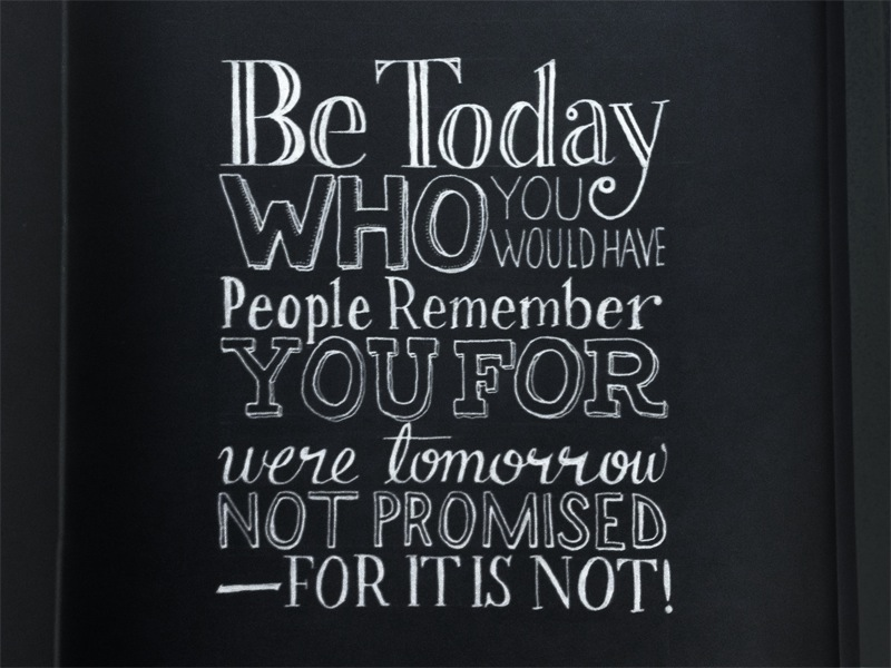 be today1 Astonishing Hand Lettering by Sean McCabe