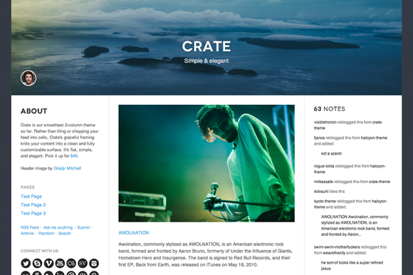 crate 2 f1 55 Elegant and Customizable Tumblr Themes