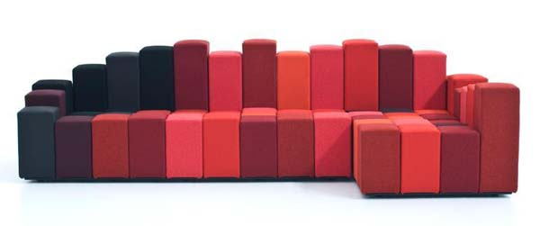Do Lo Red sofa by Ron Arad