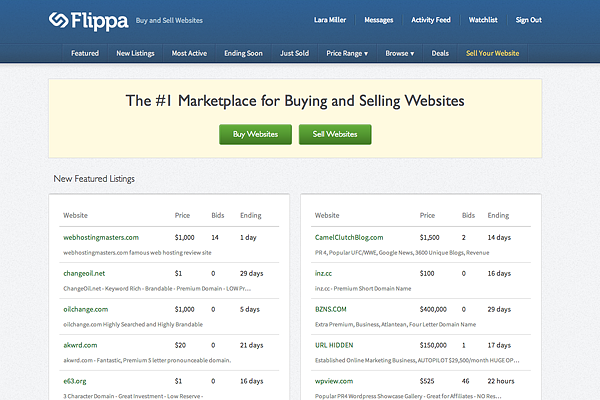 flippa 10 Powerful Tools To Spy On Your Competitors