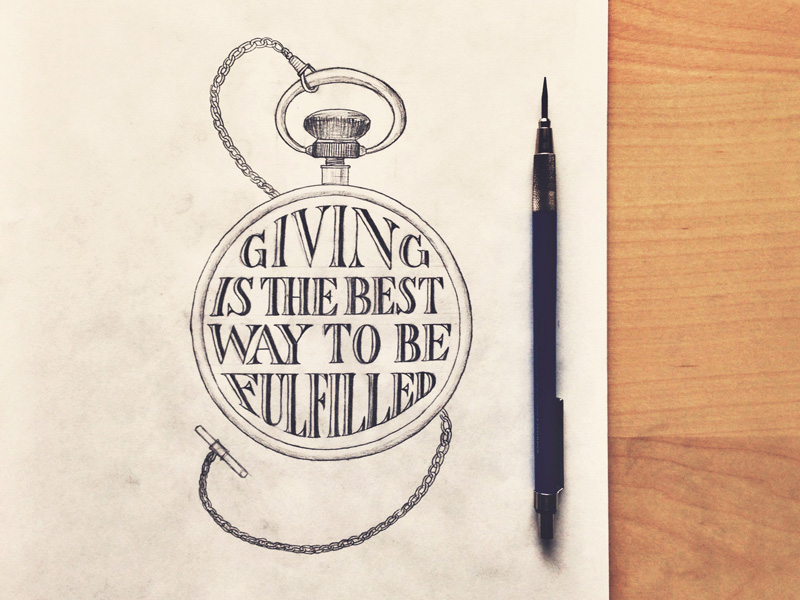 giving1 Astonishing Hand Lettering by Sean McCabe