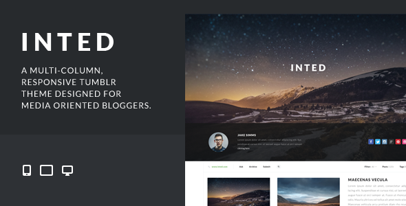 inted header   large preview1 55 Elegant and Customizable Tumblr Themes