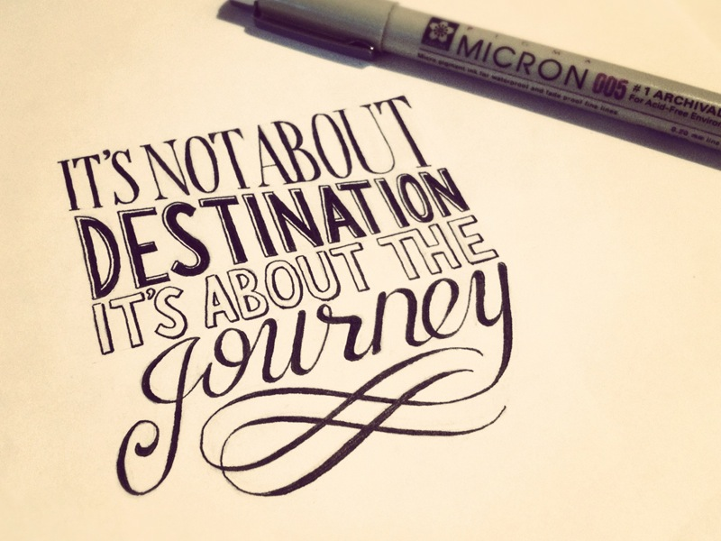 its not about destination its about the journey1 Astonishing Hand Lettering by Sean McCabe