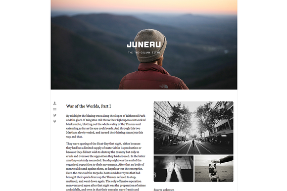 juneau 1 f1 55 Elegant and Customizable Tumblr Themes