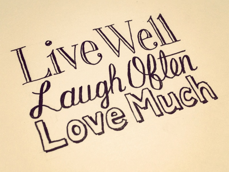 live laugh love1 Astonishing Hand Lettering by Sean McCabe