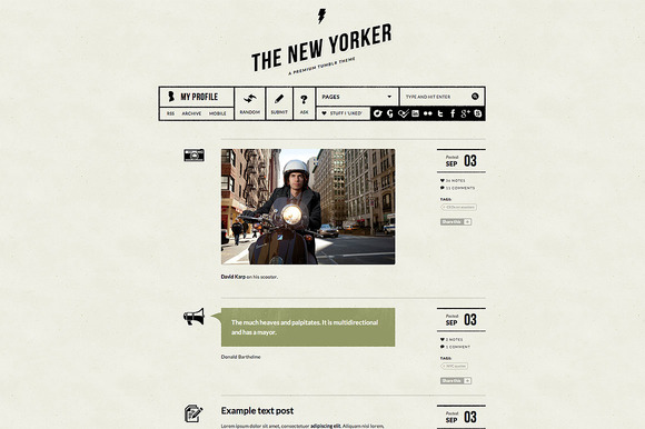 newyorker 1 f1 55 Elegant and Customizable Tumblr Themes