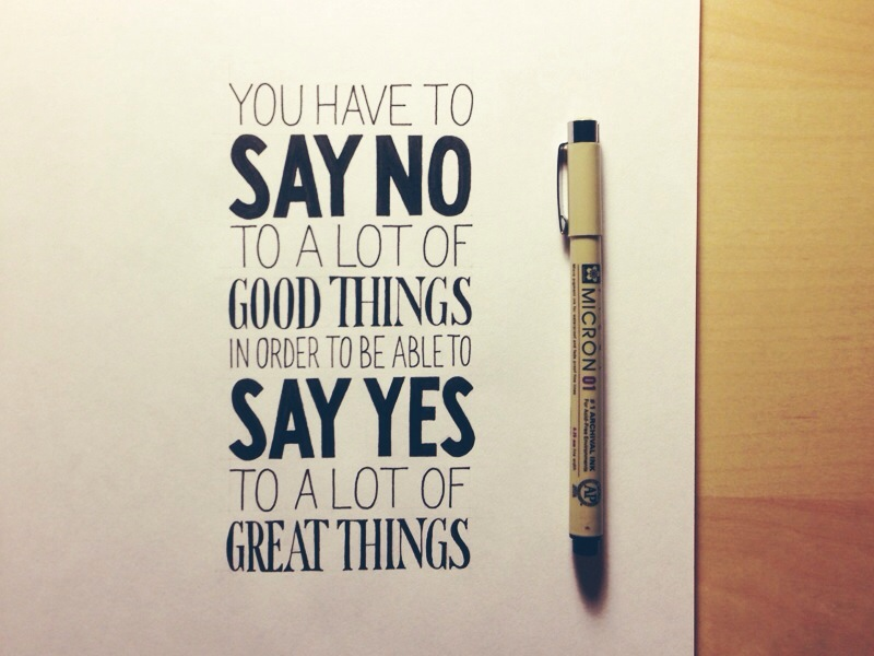 on saying no1 Astonishing Hand Lettering by Sean McCabe