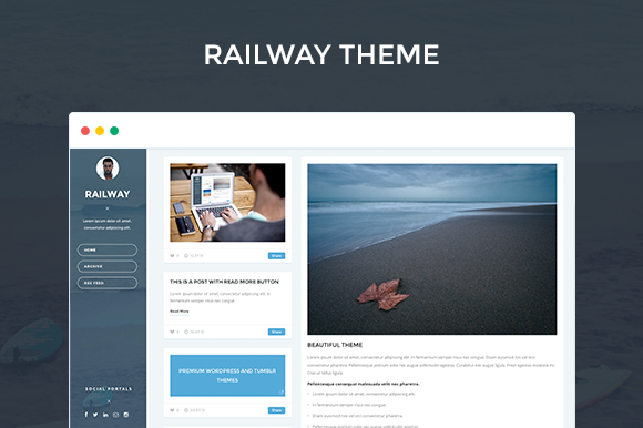 rail f1 55 Elegant and Customizable Tumblr Themes