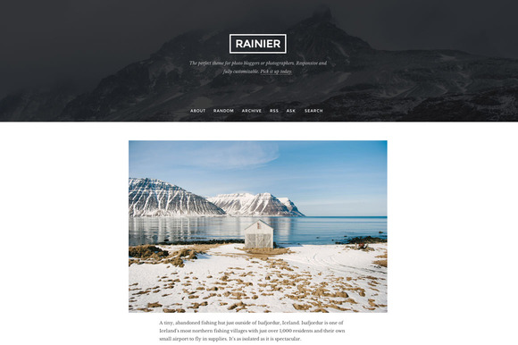 rainier cm9 f1 55 Elegant and Customizable Tumblr Themes