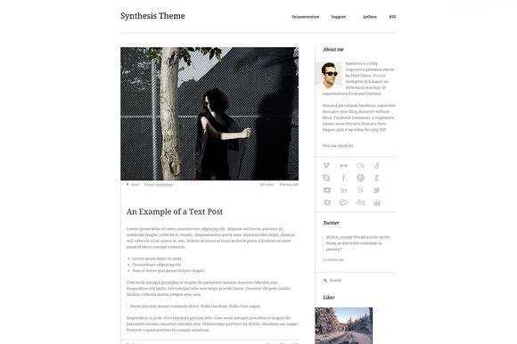 synthesis 1 f1 55 Elegant and Customizable Tumblr Themes