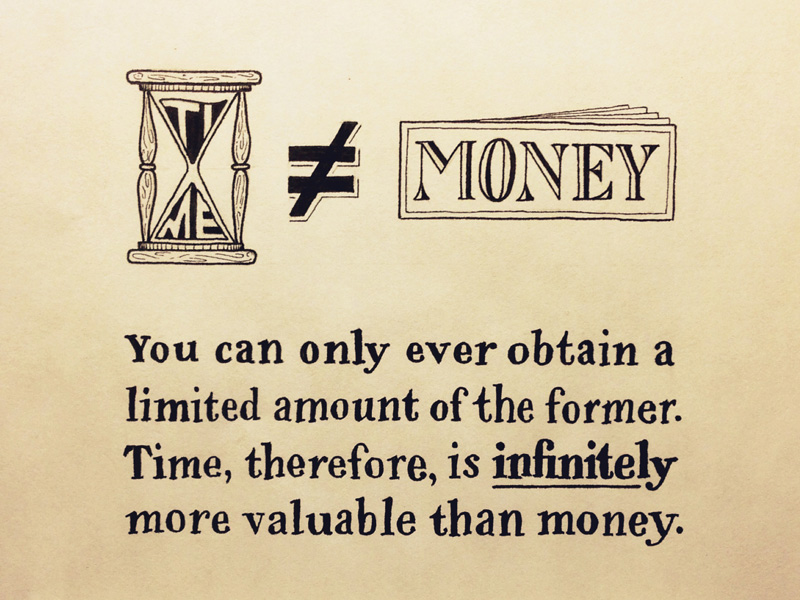 time does not equal money1 Astonishing Hand Lettering by Sean McCabe