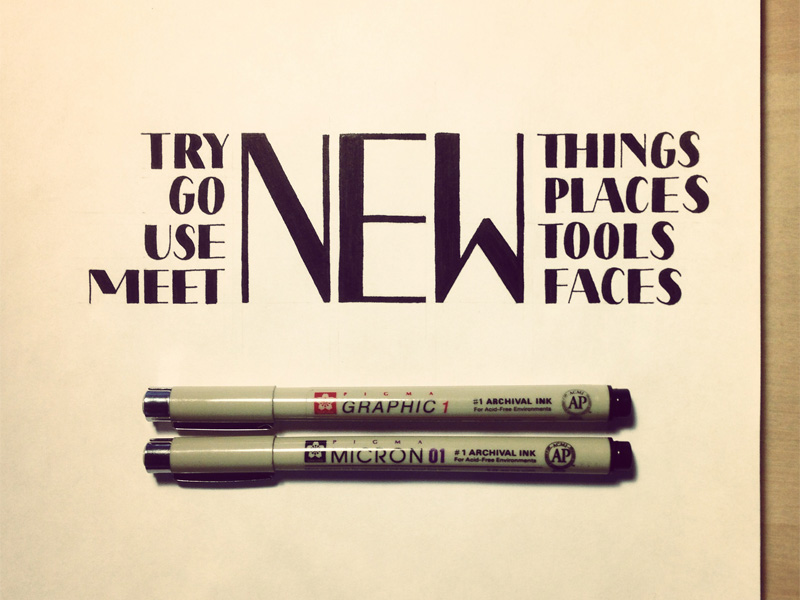 try new things1 Astonishing Hand Lettering by Sean McCabe