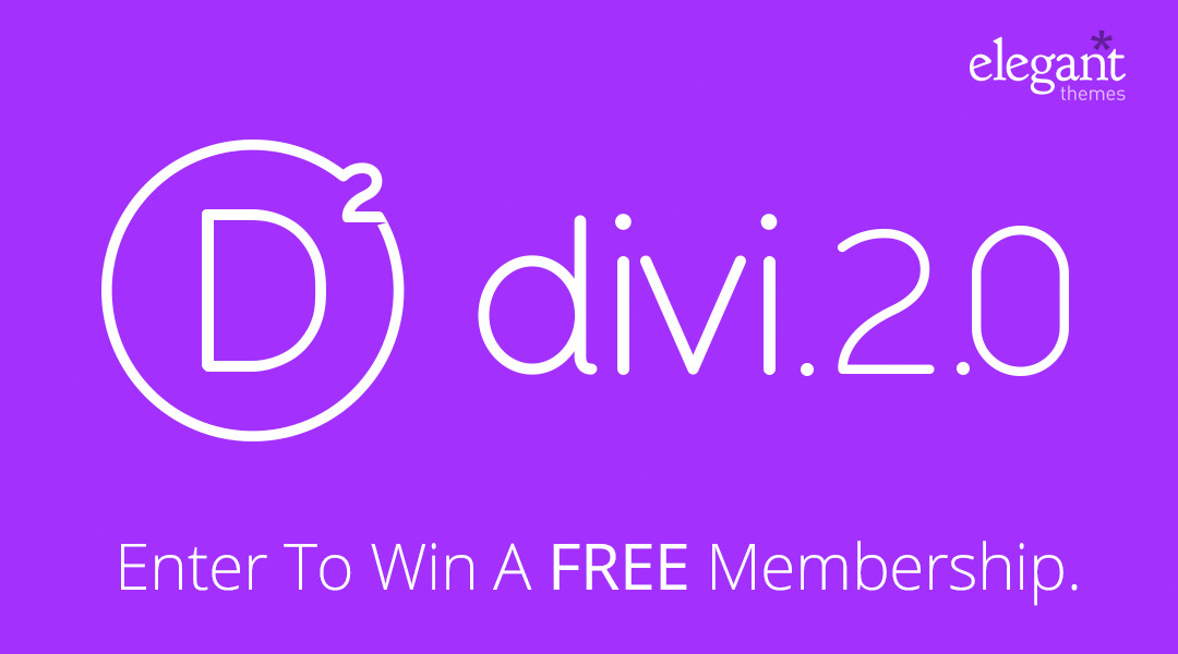 divi giveaway wide Giveaway: 3 Developer Subscriptions to Elegant Themes (Valued at $89 Each)
