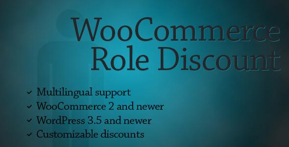 WooCommerce Role Discount