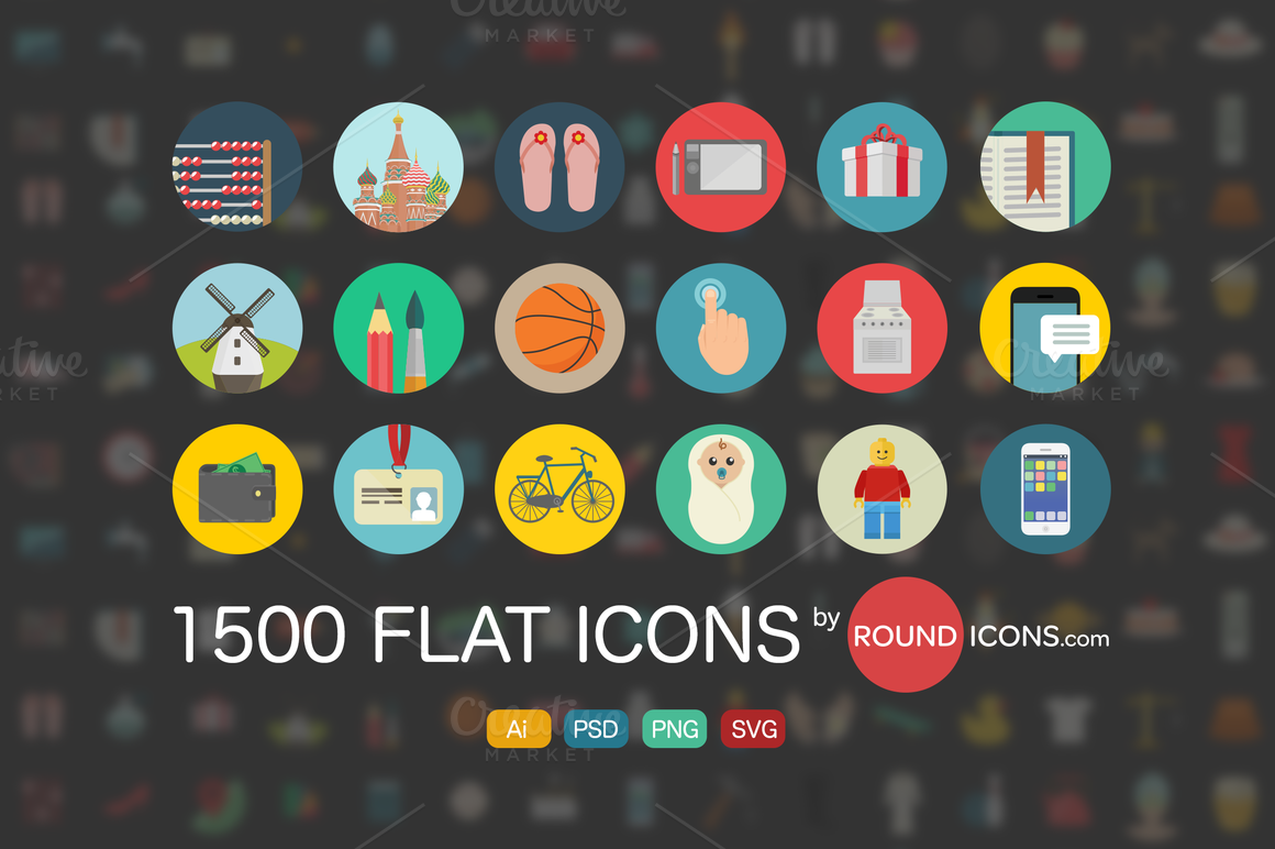 1500 Flat Icons Ai 1500 Flat Icons Ai