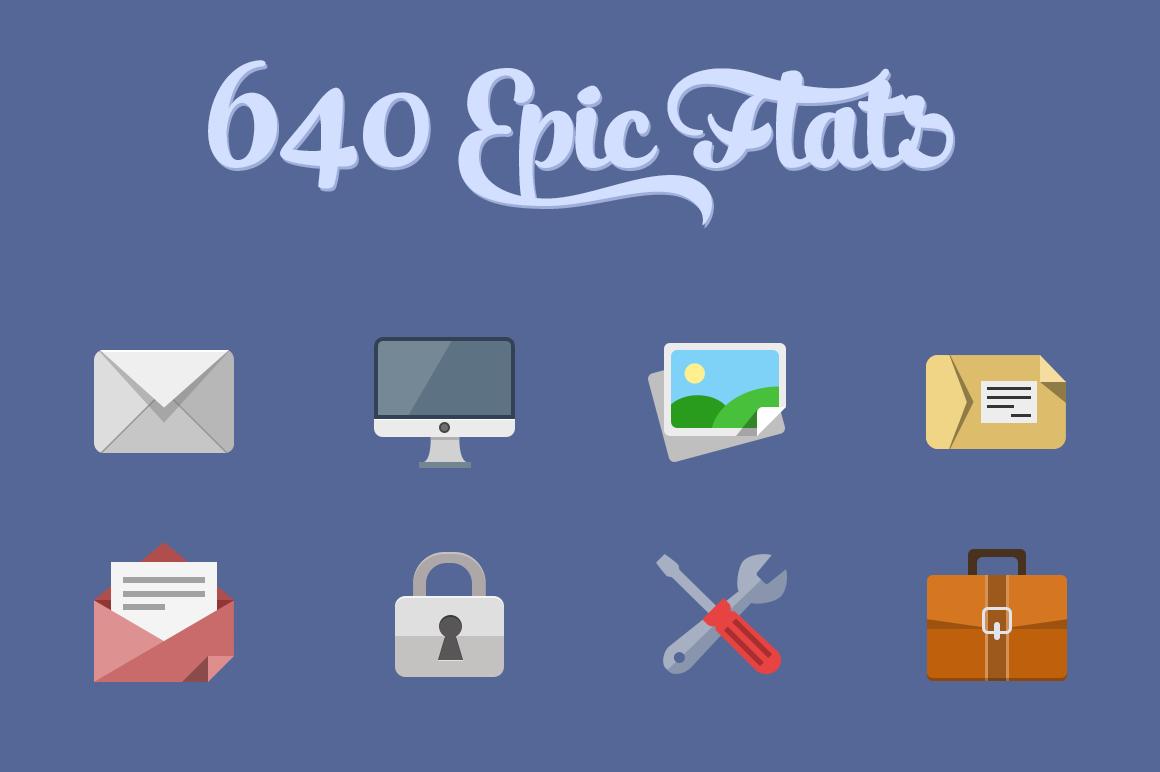 640 Flat icons