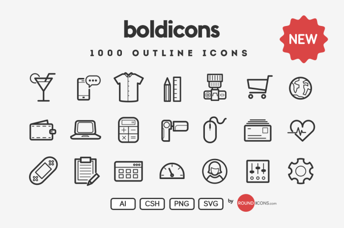 boldicons 20 Freshly Baked Icons for Your Designs