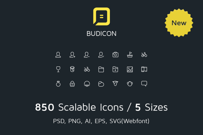 budicon 20 Freshly Baked Icons for Your Designs