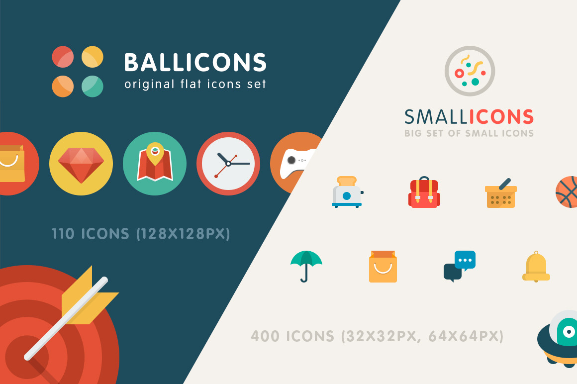 Flat icons bundle