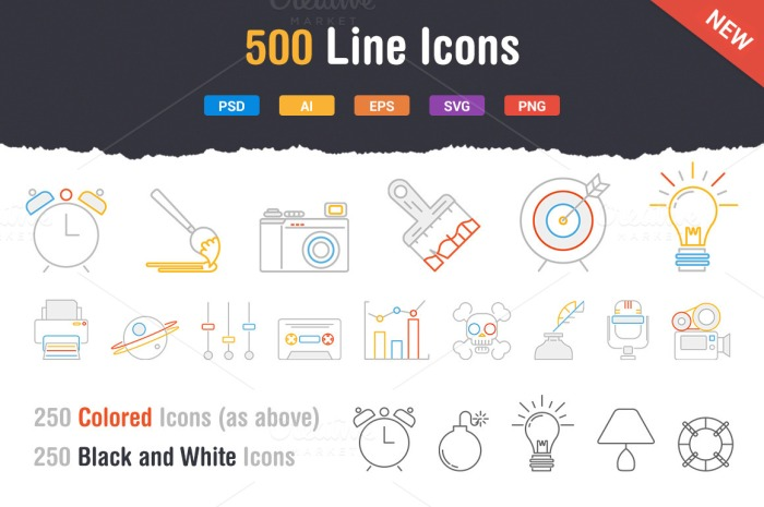 outstanding line icons 20 Freshly Baked Icons for Your Designs