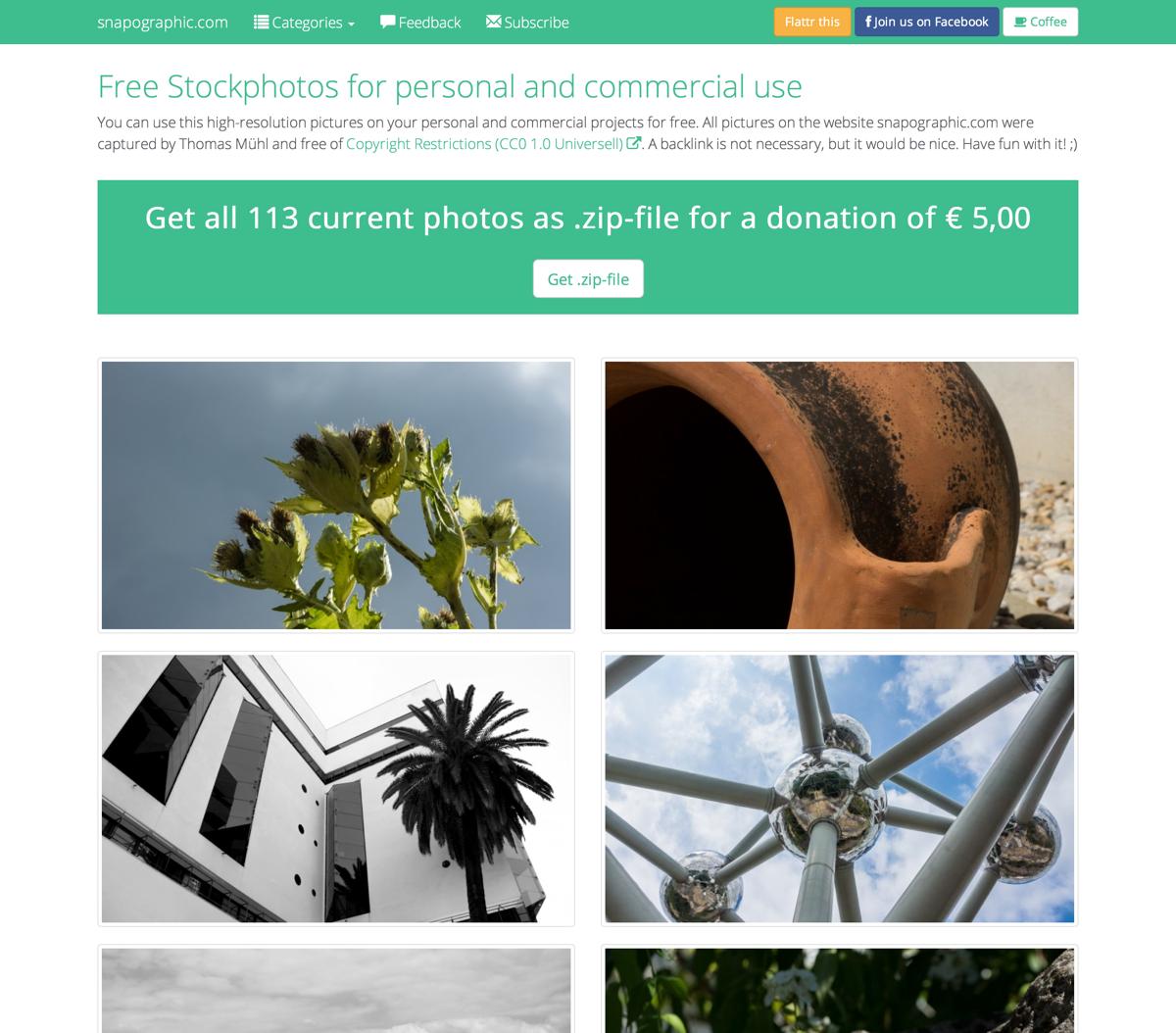 snapographic 25 Free Stock Photo Websites