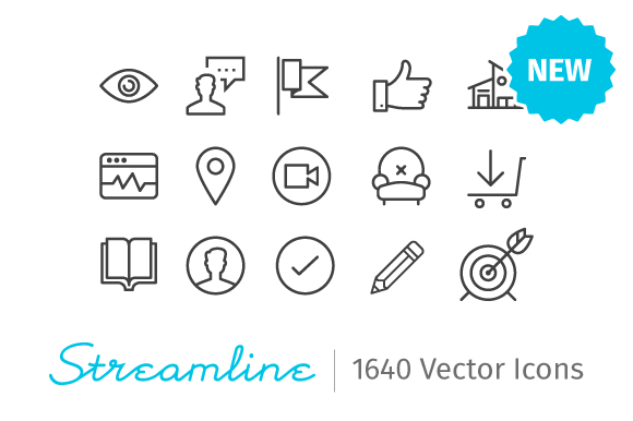 streamline icons 20 Freshly Baked Icons for Your Designs