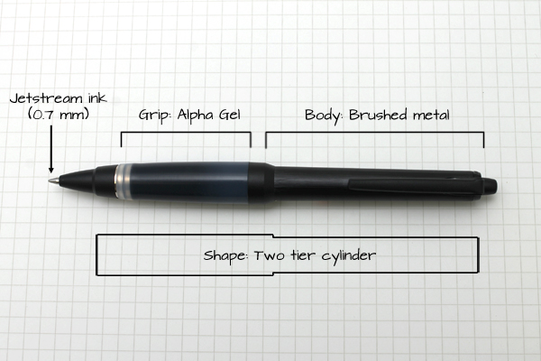 Uni Alpha-gel Jetstream Ink Ball Point Pen