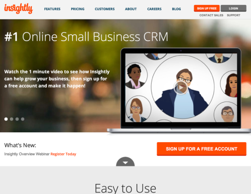 #1 Free Online CRM for Small Business-Customer Relationship Software - Insightly (20140722)